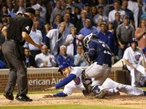 home plate collision Rizzo, Hedges